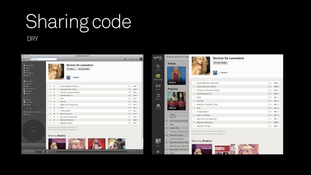 DRY Sharing code