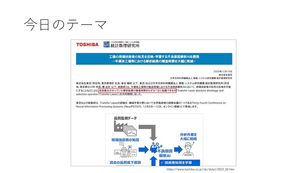 今⽇のテーマ https://www.toshiba.co.jp/rdc/detail/201...