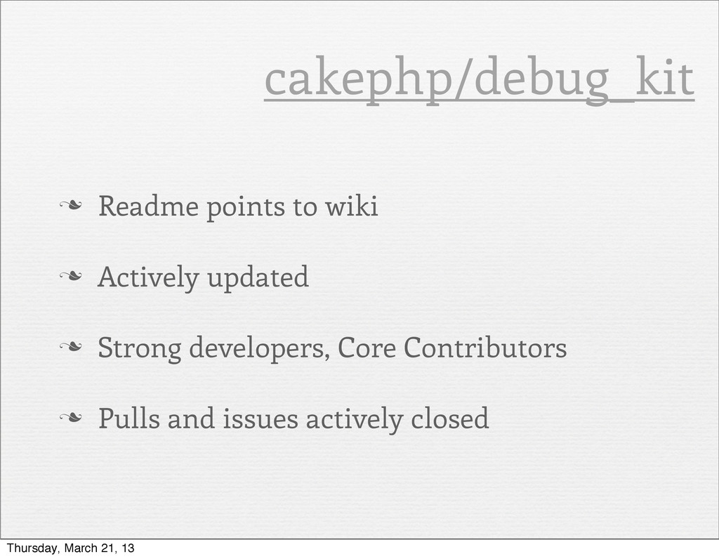 n Readme points to wiki n Actively updated n...
