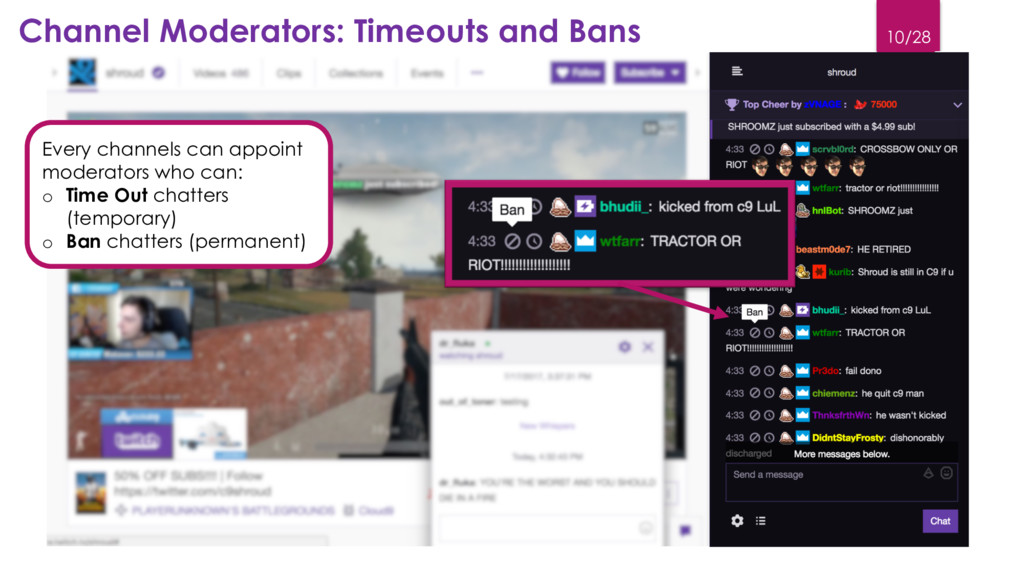 10/28 Channel Moderators: Timeouts and Bans Eve...