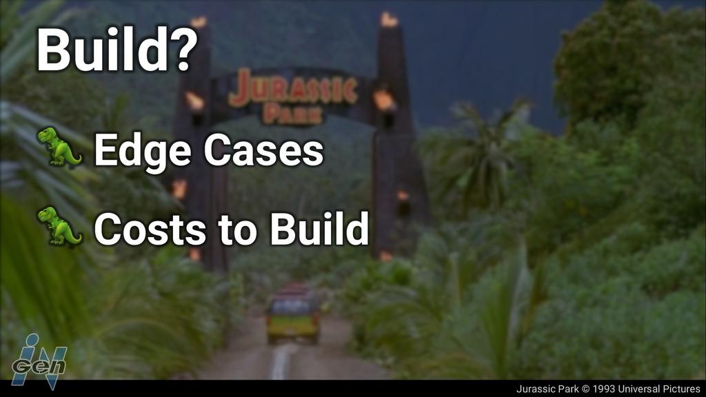 Jurassic Park © 1993 Universal Pictures Build? ...