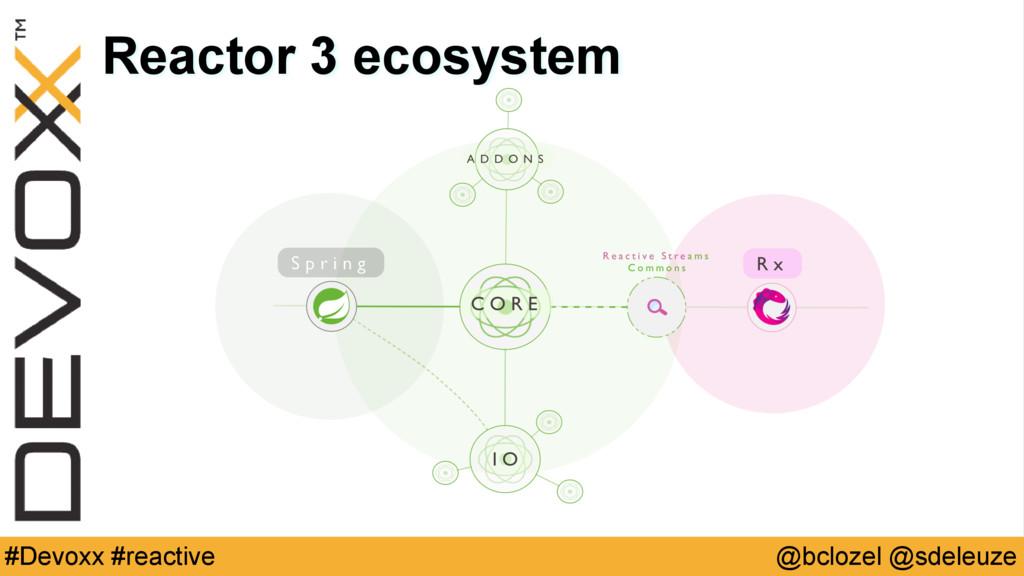 @bclozel @sdeleuze #Devoxx #reactive Reactor 3 ...