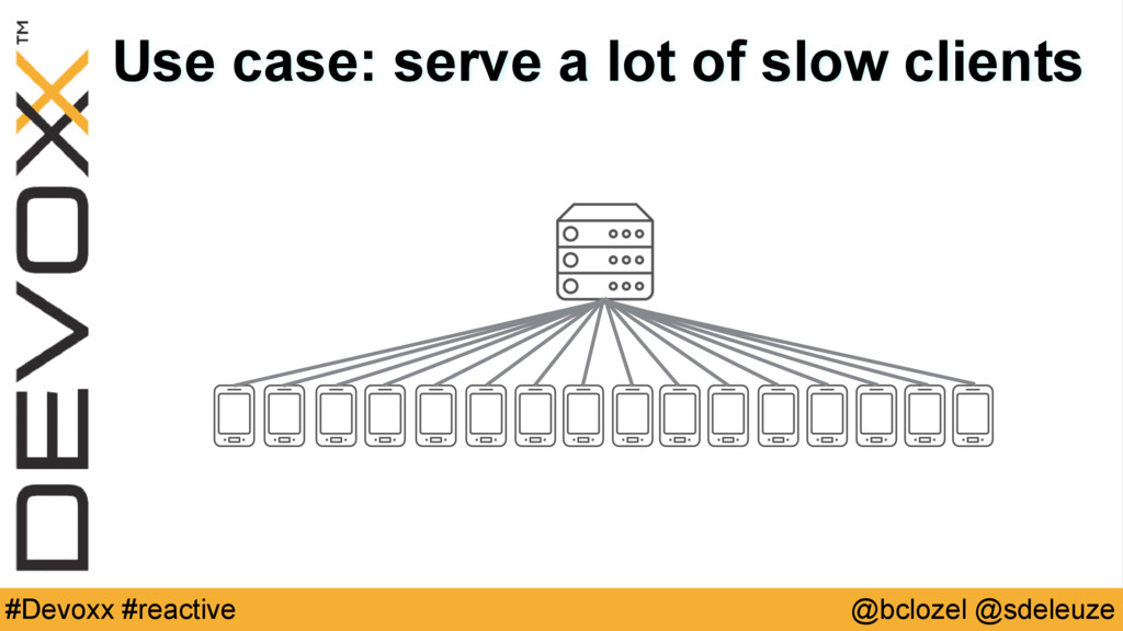 @bclozel @sdeleuze #Devoxx #reactive Use case: ...