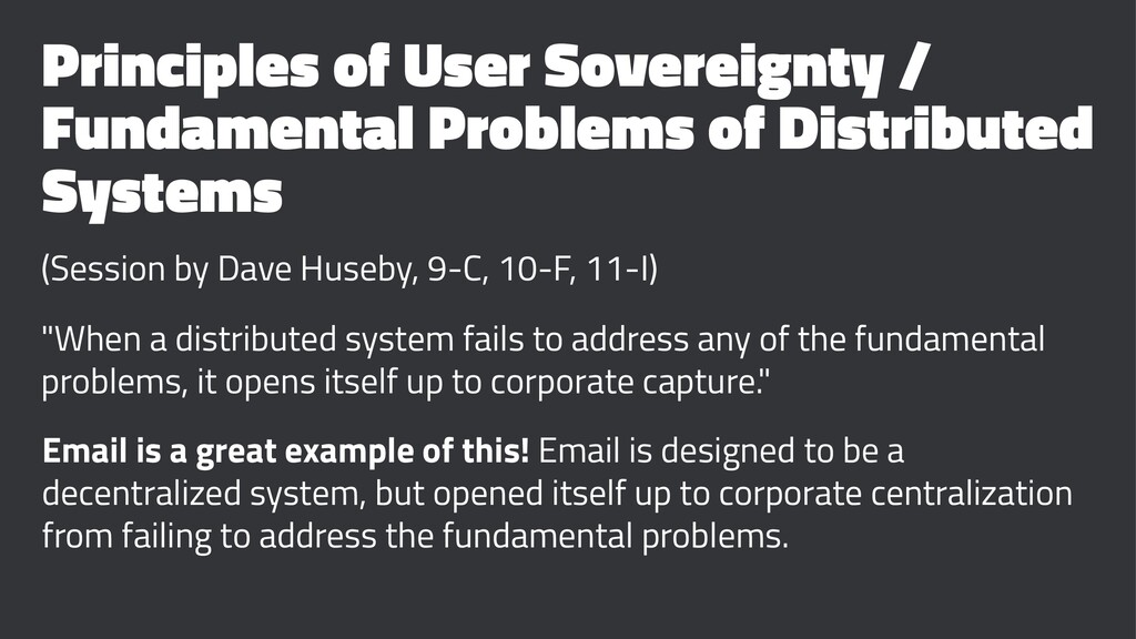 Principles of User Sovereignty / Fundamental Pr...