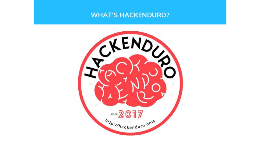 WHAT'S HACKENDURO?