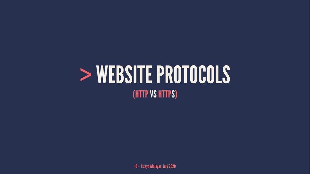 > WEBSITE PROTOCOLS (HTTP VS HTTPS) 10 — Fisayo...