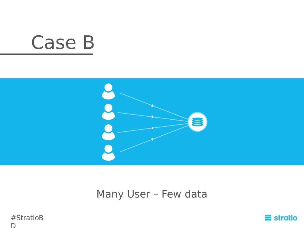 Many User – Few data Case B #StratioB