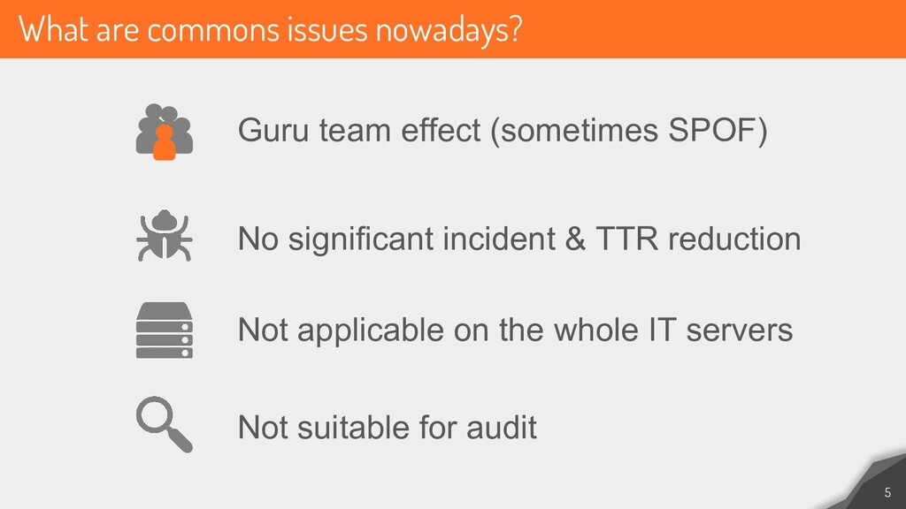What are commons issues nowadays? 5 Guru team e...