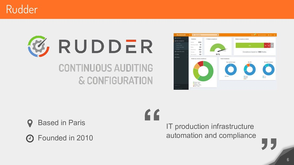 Rudder 6 IT production infrastructure automatio...