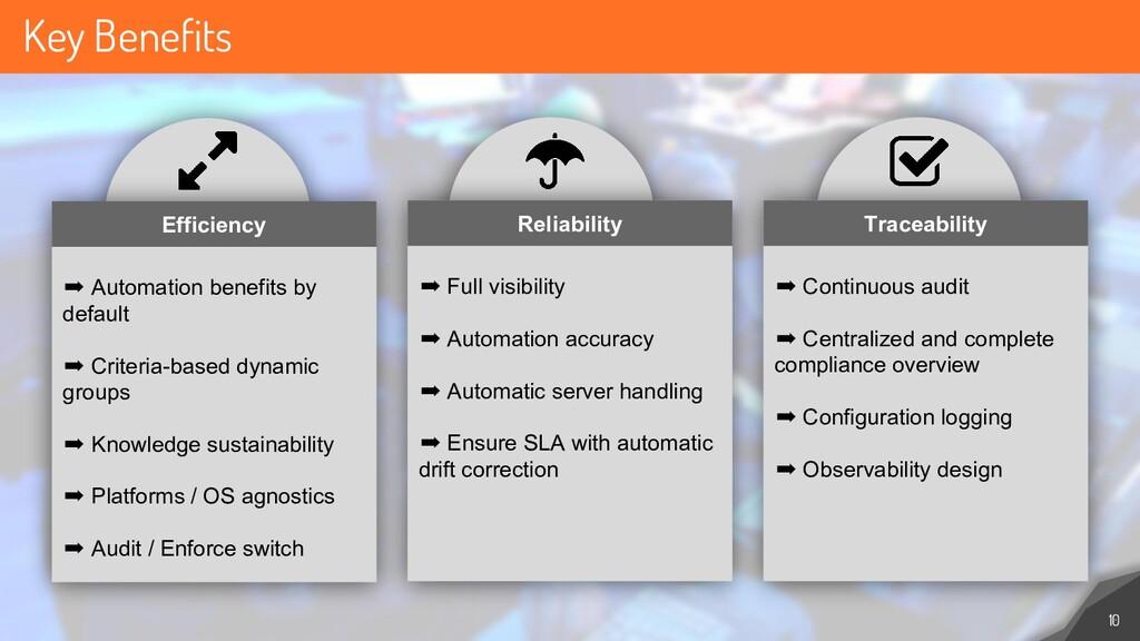 Key Benefits 10 ➡ Automation benefits by defaul...