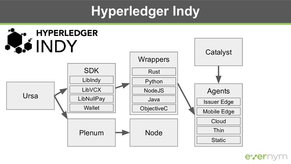 Hyperledger Indy Catalyst Plenum Node SDK Agent...