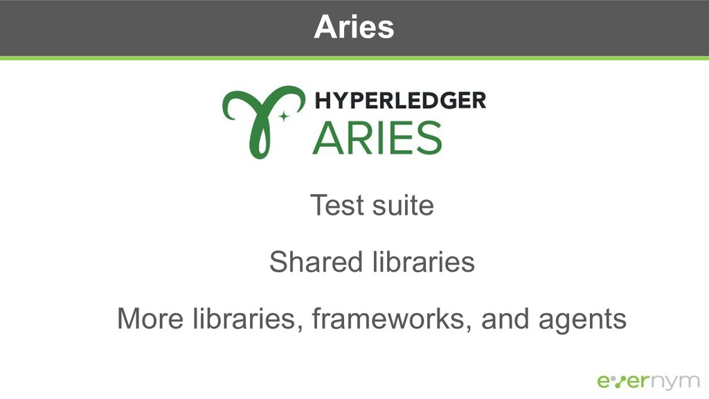 Aries Test suite Shared libraries More librarie...