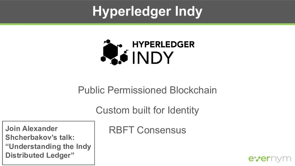 Hyperledger Indy Public Permissioned Blockchain...