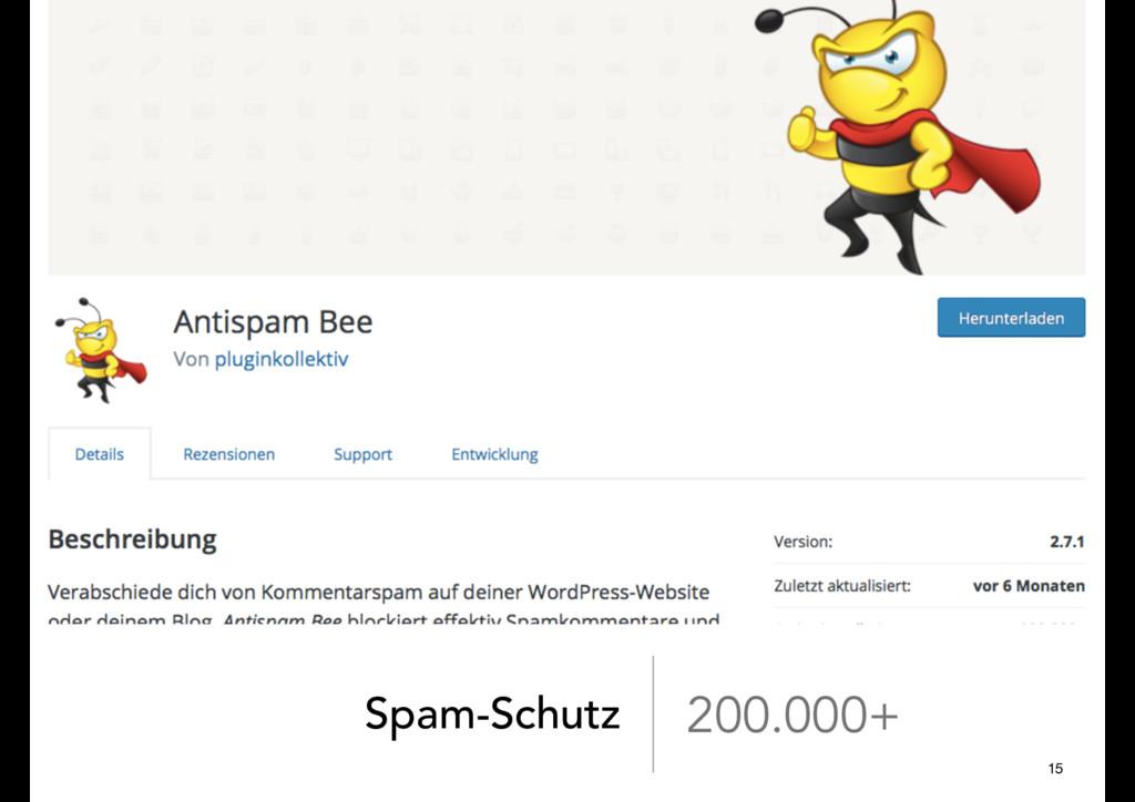 Spam-Schutz 200.000+ 15