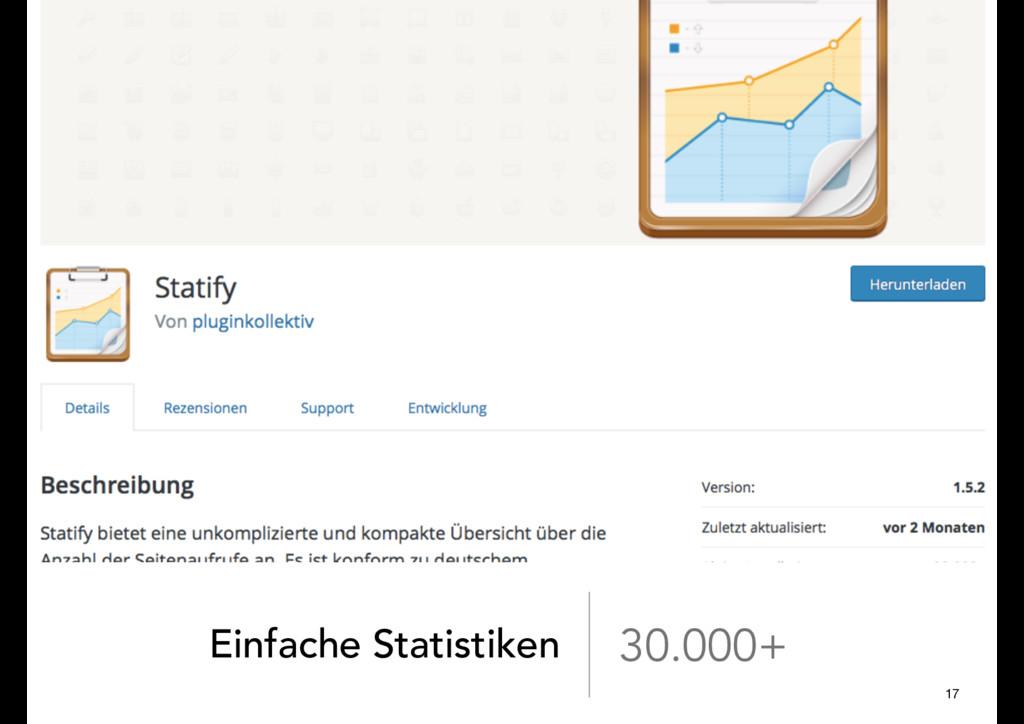 Einfache Statistiken 30.000+ 17