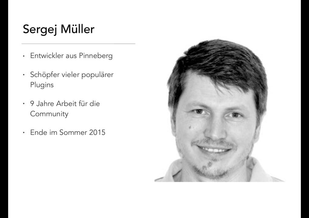 Sergej Müller • Entwickler aus Pinneberg • Schö...