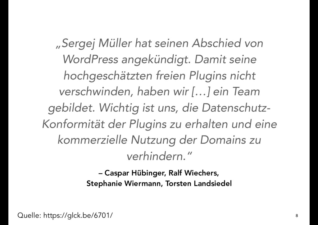 – Caspar Hübinger, Ralf Wiechers, Stephanie Wie...