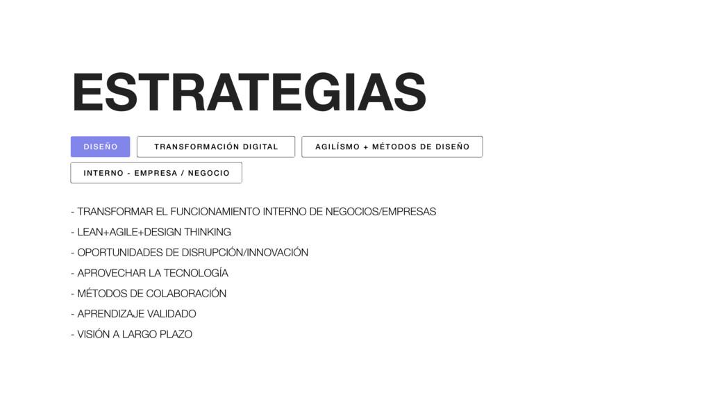 ESTRATEGIAS - TRANSFORMAR EL FUNCIONAMIENTO INT...