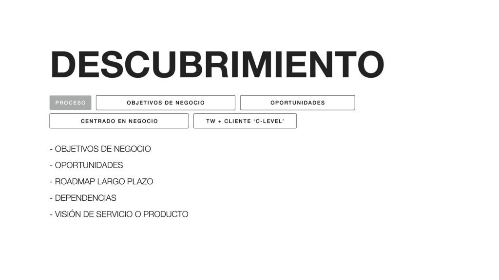 DESCUBRIMIENTO - OBJETIVOS DE NEGOCIO - OPORTUN...