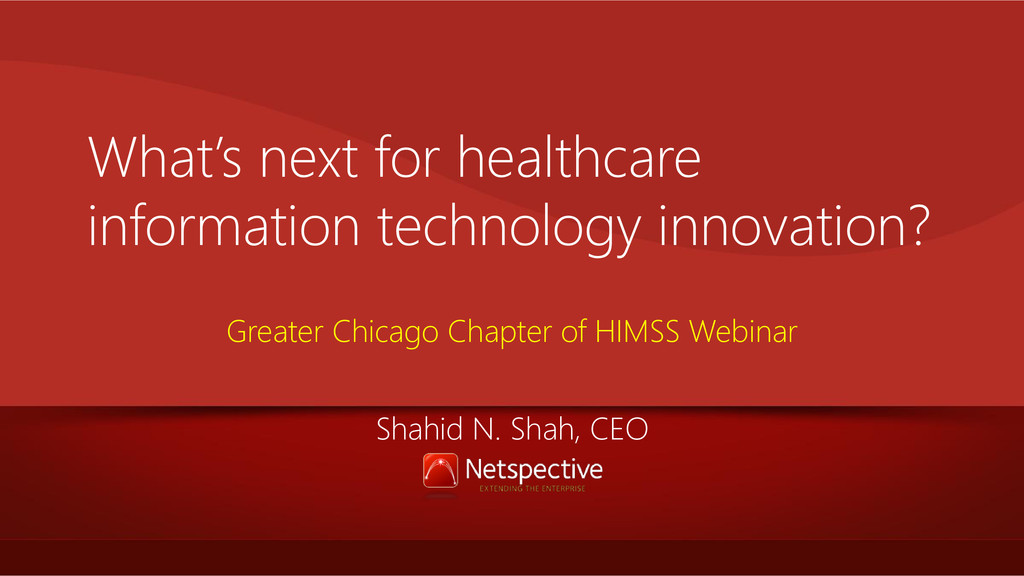 What's next for healthcare information technolo...