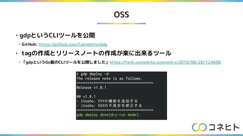OSS ・gdpというCLIツールを公開  ・GitHub: https://github.c...