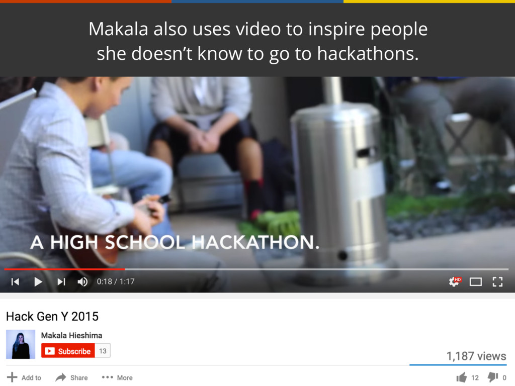 Makala also uses video to inspire people she do...