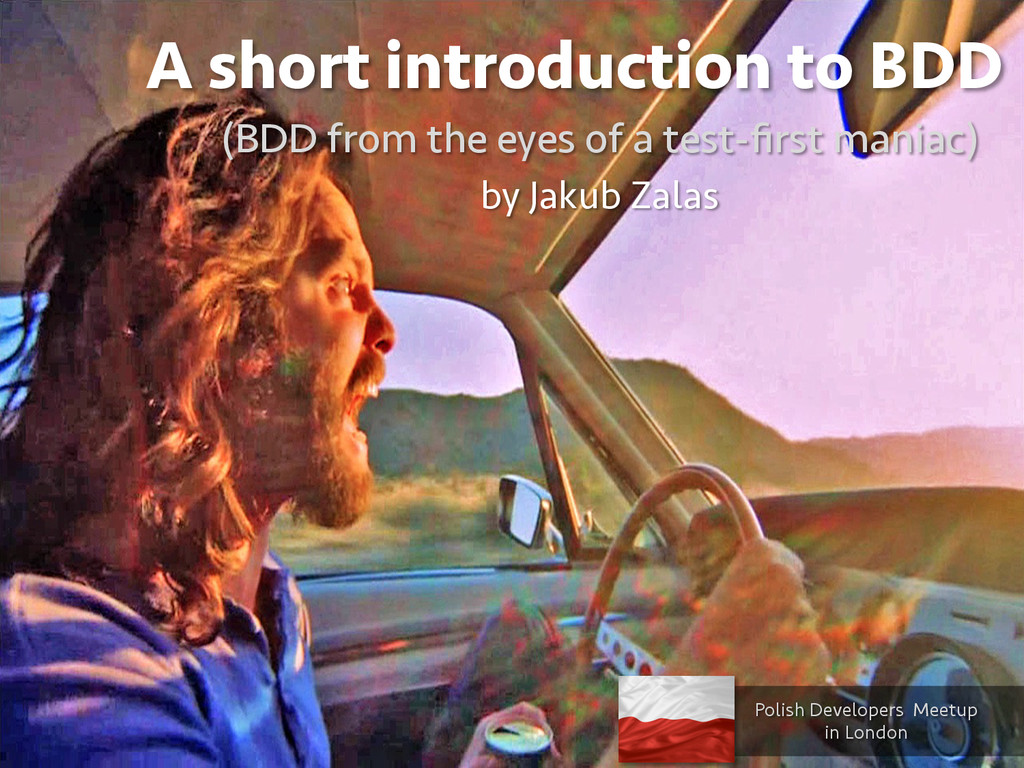 A short introduction to BDD (BDD from the eyes ...