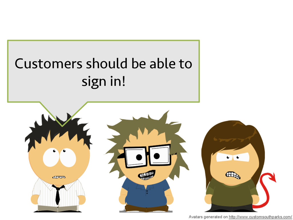 Customers should be able to sign in! Avatars ge...
