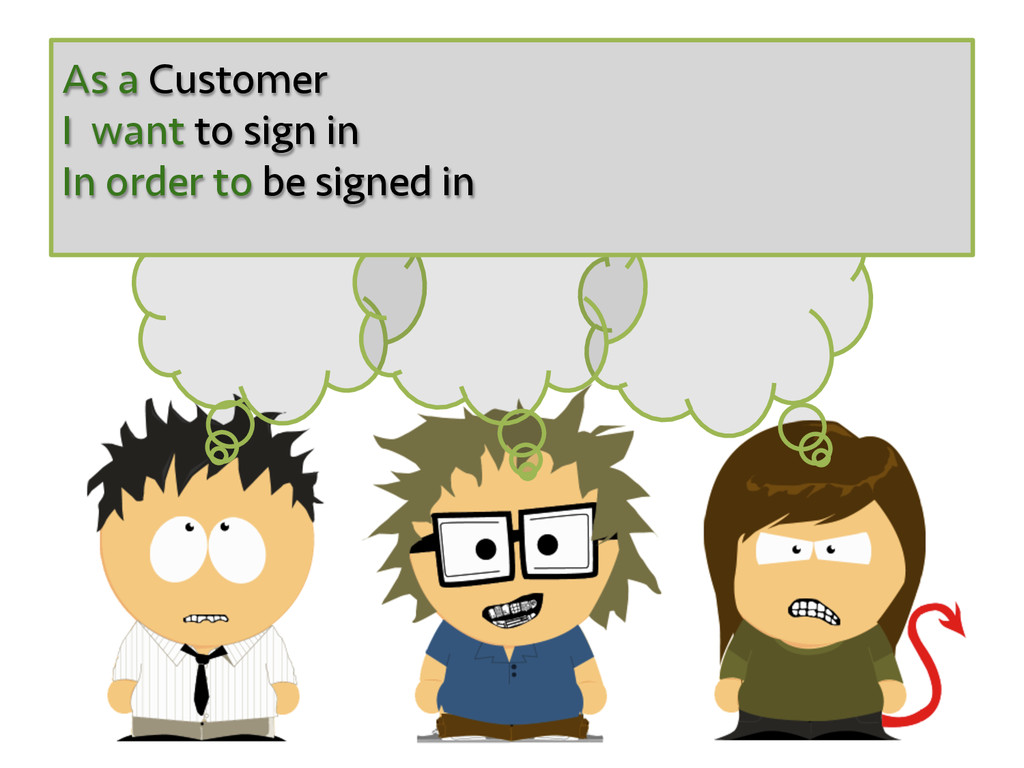 As a Customer I want to sign in In order to be ...