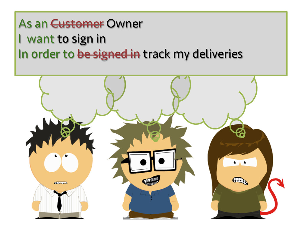 As an Customer Owner I want to sign in In order...