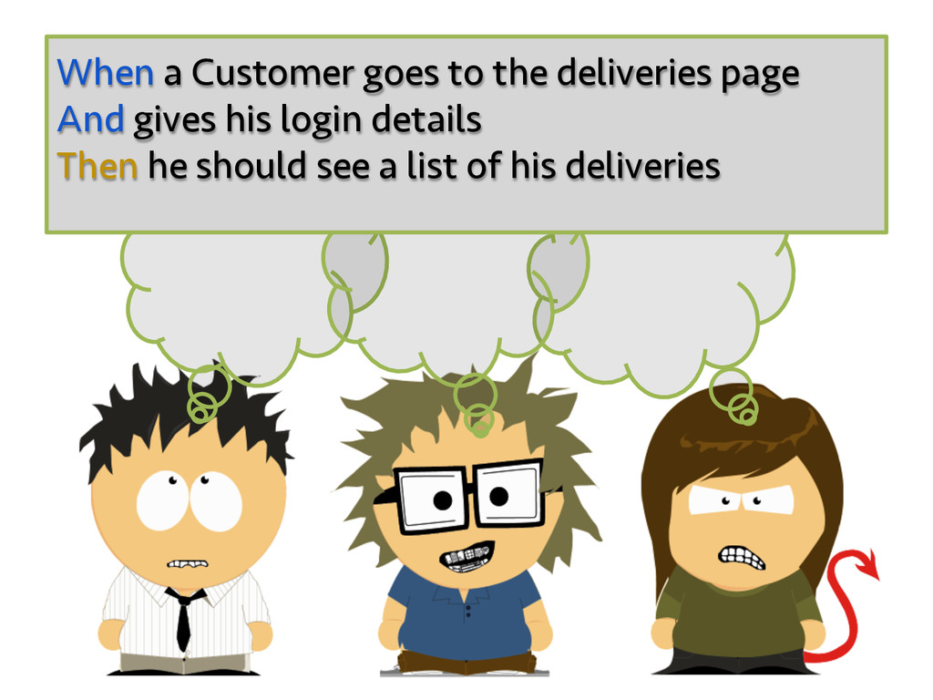 When a Customer goes to the deliveries page And...