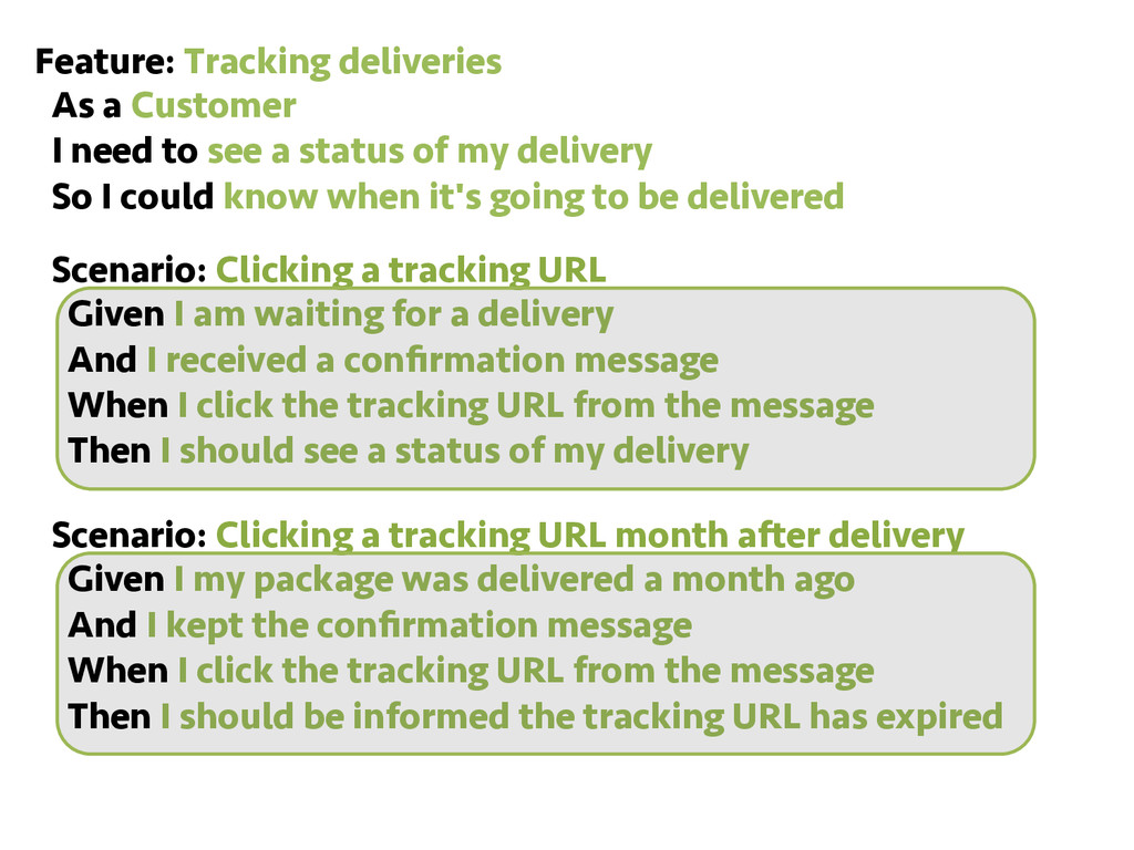 Feature: Tracking deliveries As a Customer I ne...