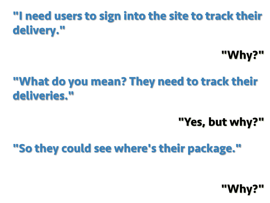 """""""I need users to sign into the site to track th..."""