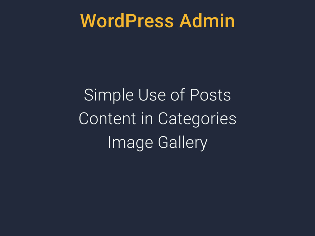 WordPress Admin Simple Use of Posts Content in ...