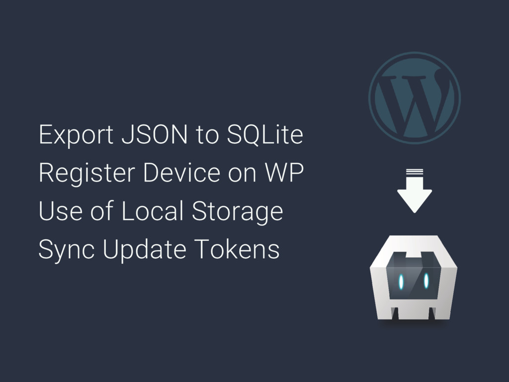 Export JSON to SQLite Register Device on WP Use...