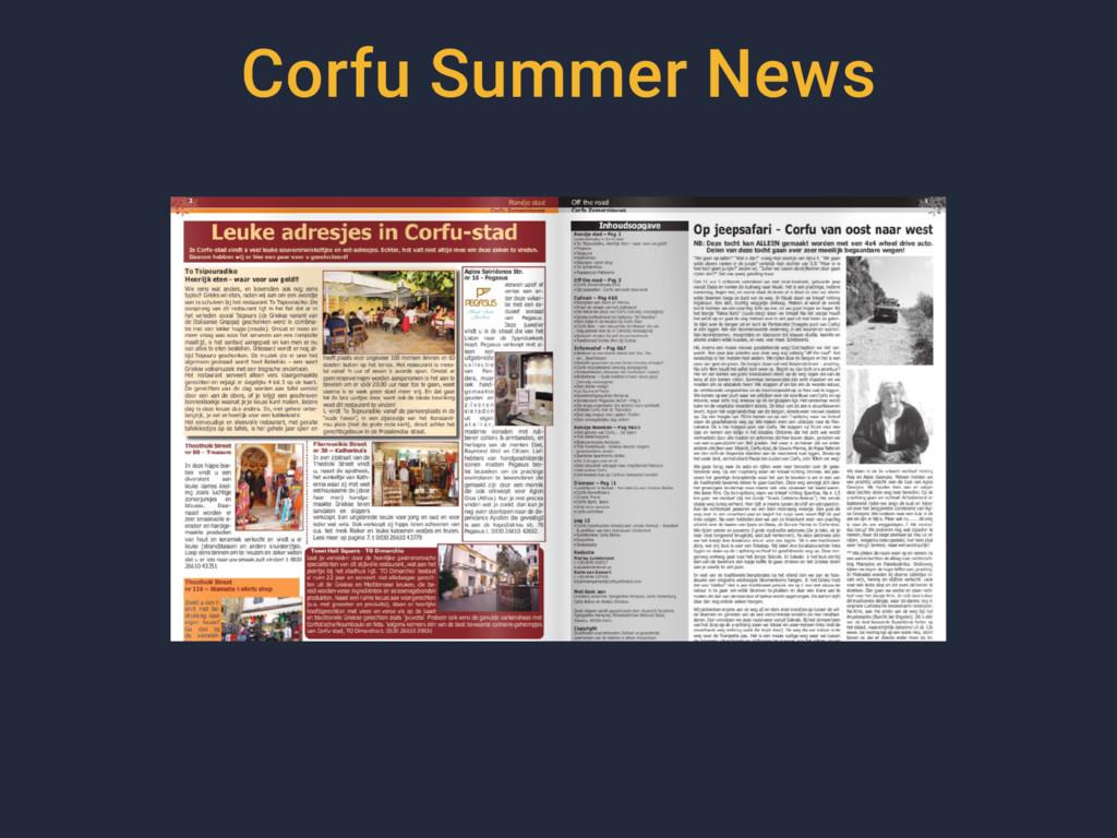 Corfu Summer News