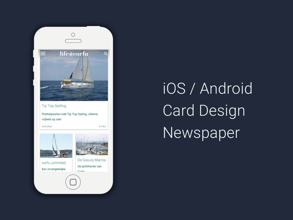 iOS / Android Card Design Newspaper