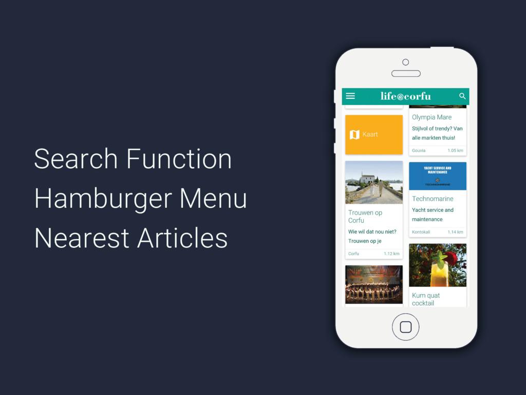 Search Function Hamburger Menu Nearest Articles