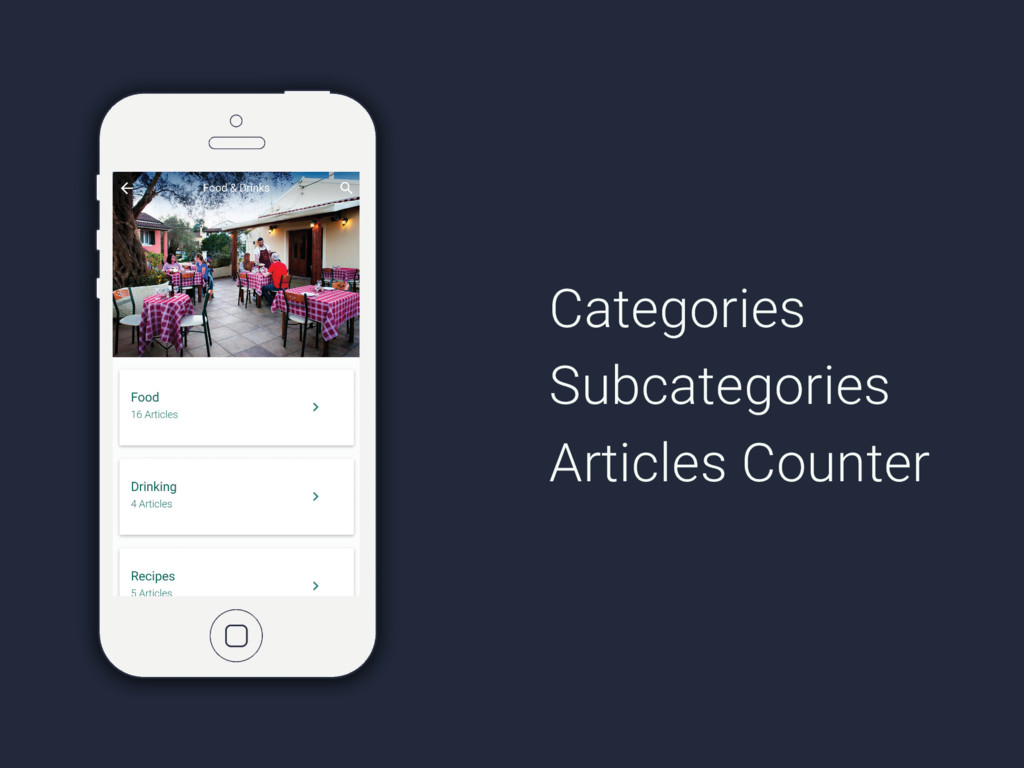 Categories Subcategories Articles Counter