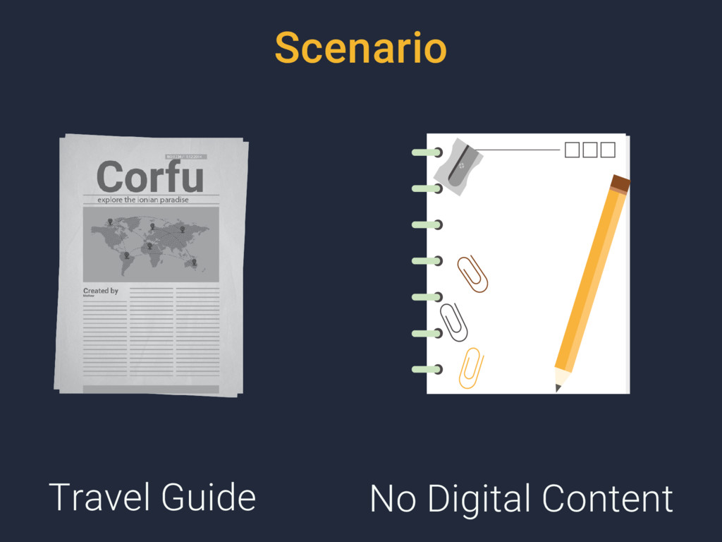 Travel Guide No Digital Content Scenario
