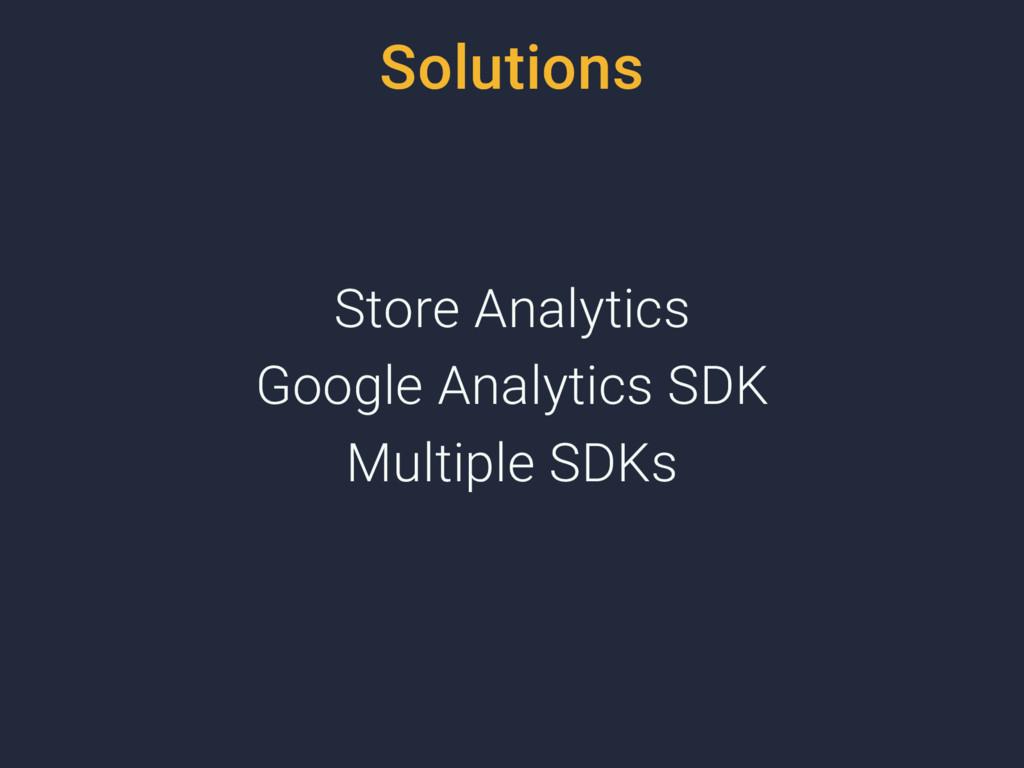 Solutions Store Analytics Google Analytics SDK ...