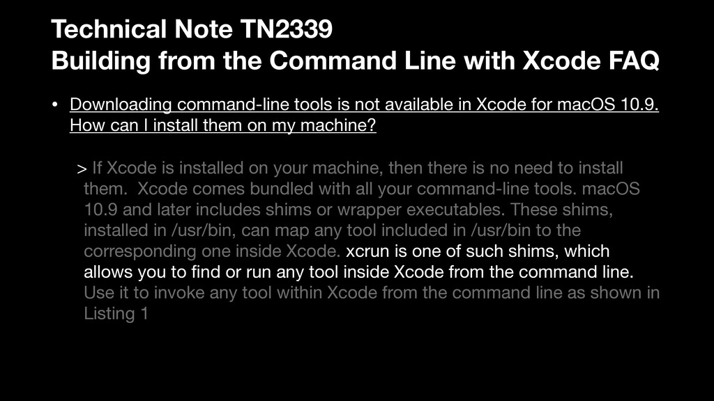 Technical Note TN2339 Building from the Command...