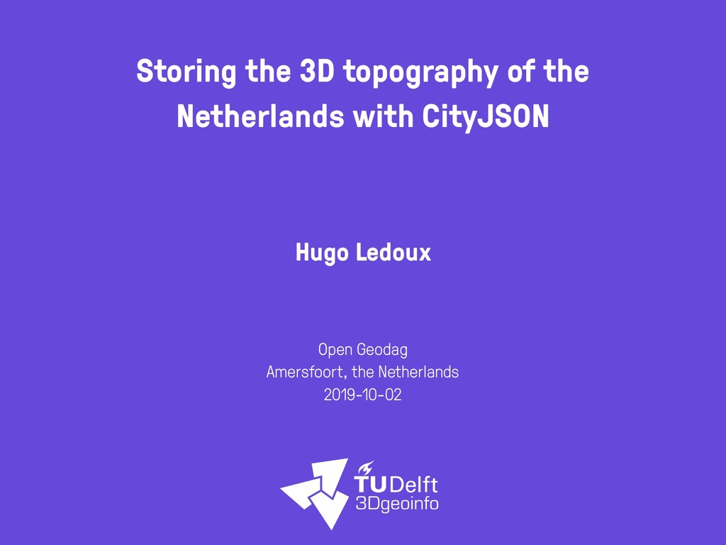Storing the 3D topography of the Netherlands wi...