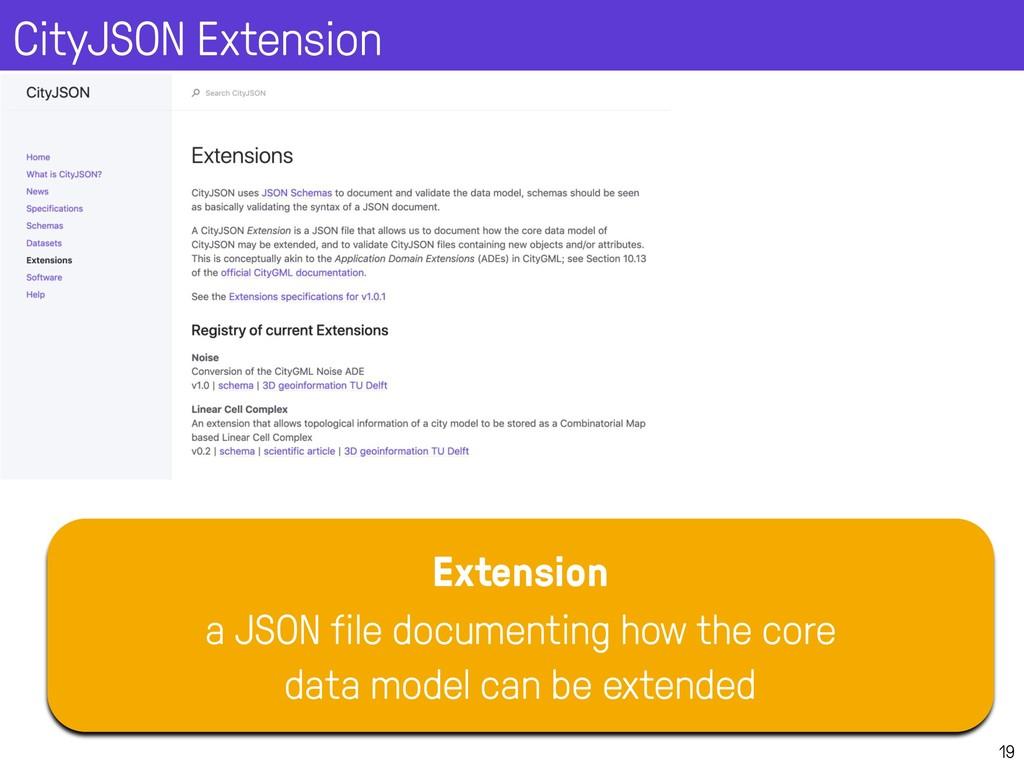 CityJSON Extension 19 Extension a JSON file doc...