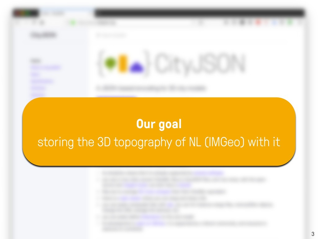 3 Our goal storing the 3D topography of NL (IMG...