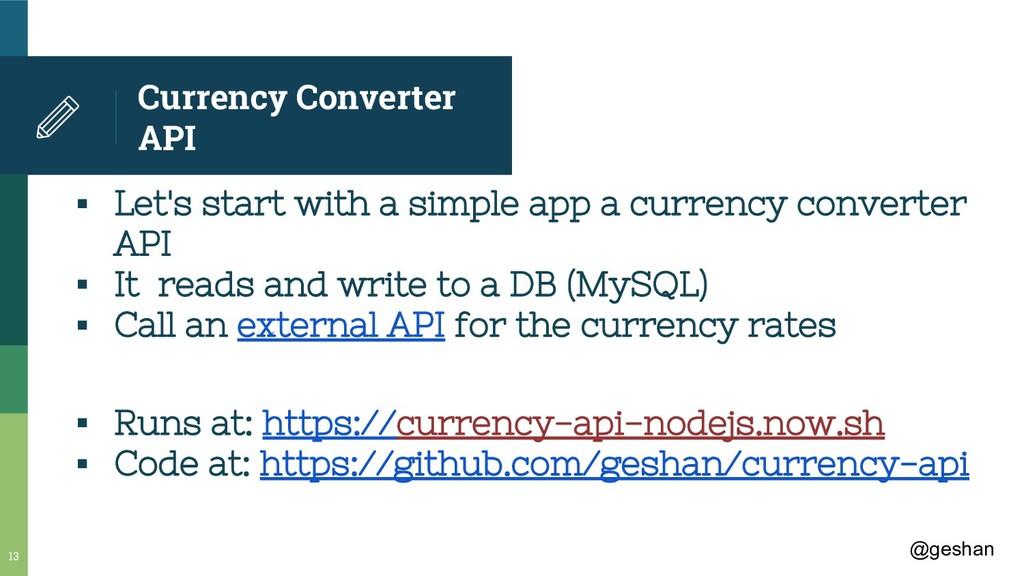 @geshan Currency Converter API ▪ Let's start wi...