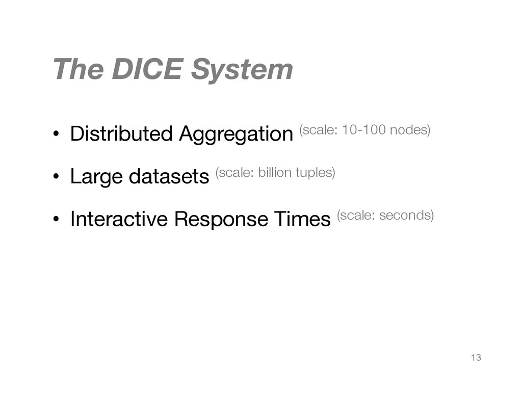 The DICE System