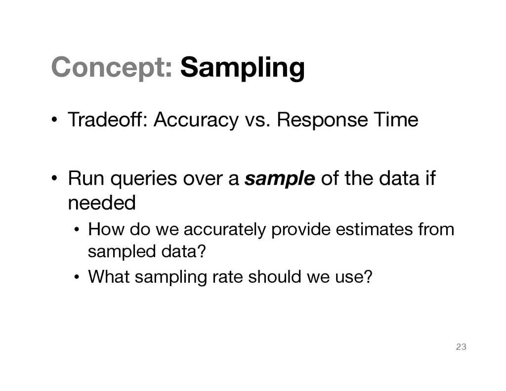 Concept: Sampling