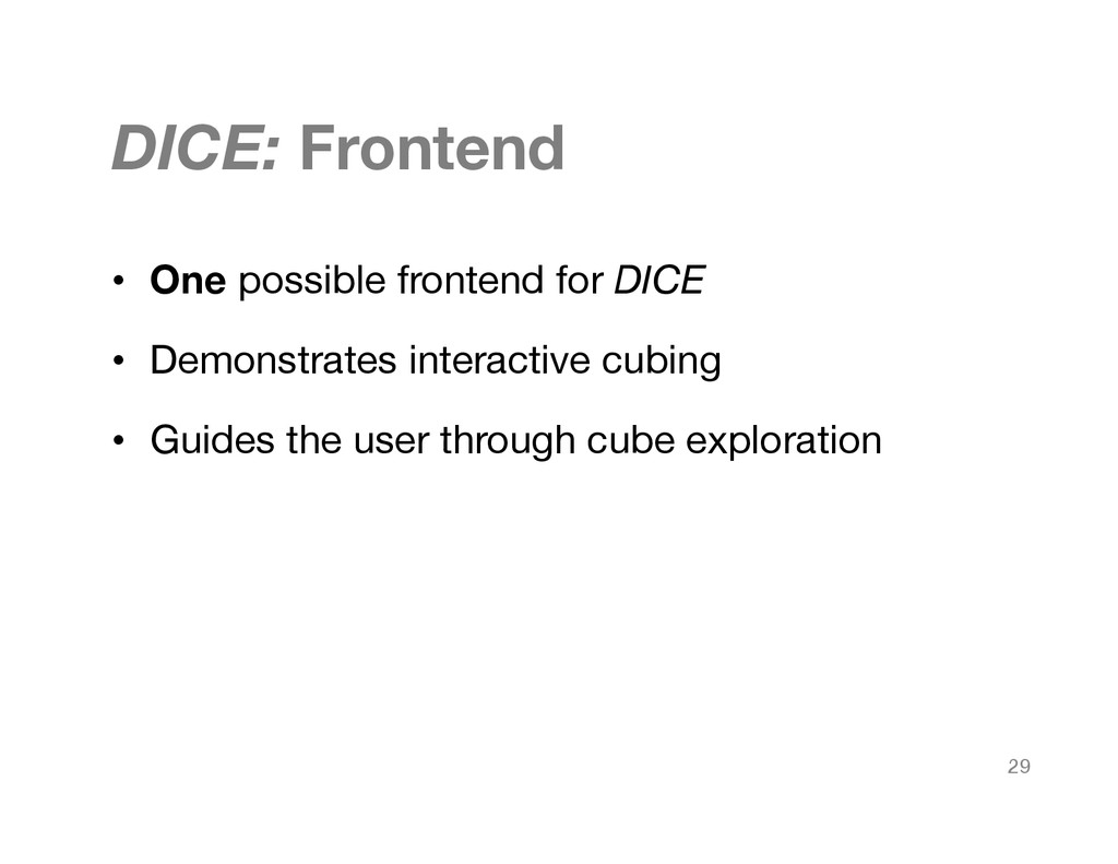 DICE: Frontend