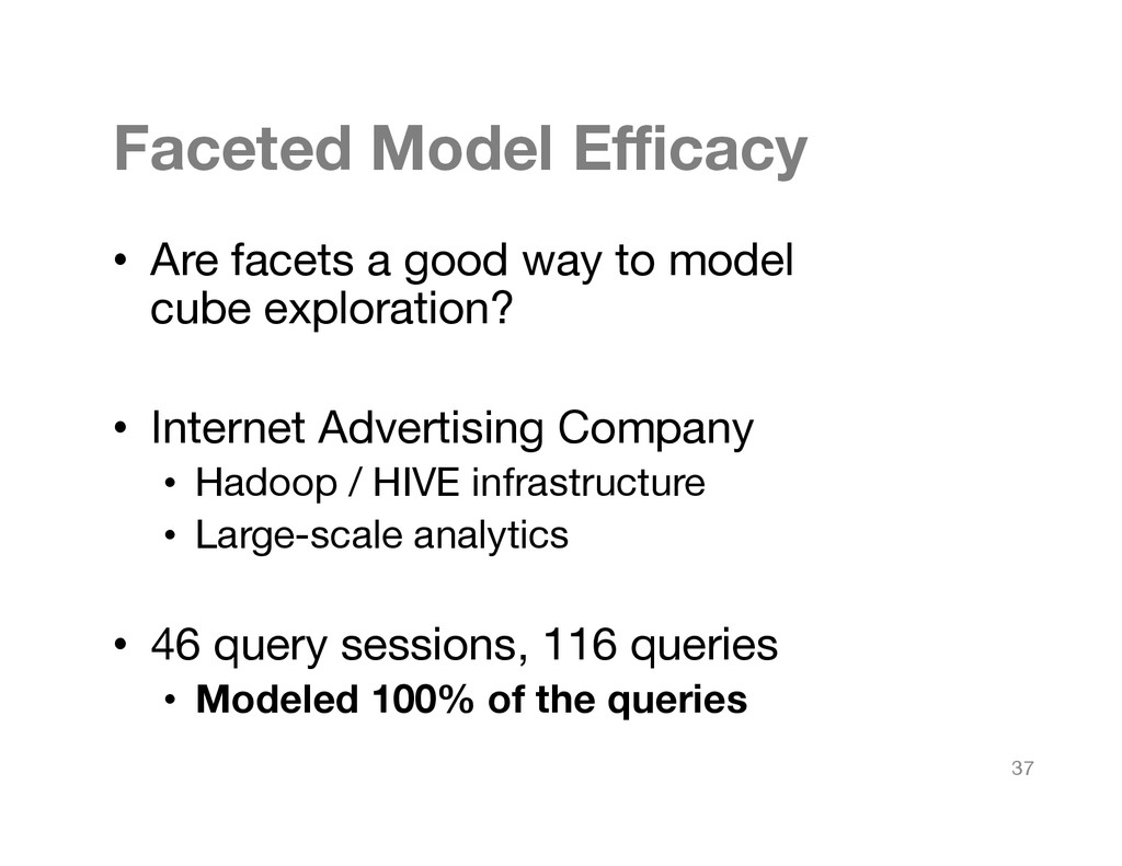 Faceted Model Efficacy
